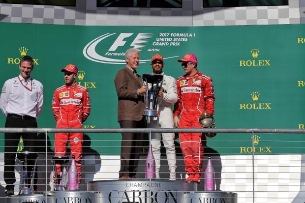 Austin: Hamilton wins, Vettel second; Mercedes wins team championship