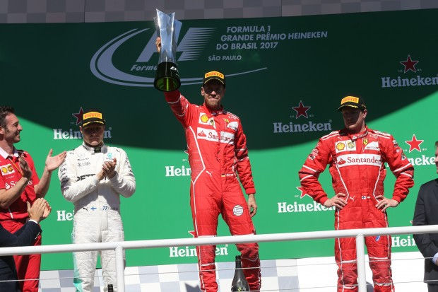 Sebastian Vettel wins in São Paulo