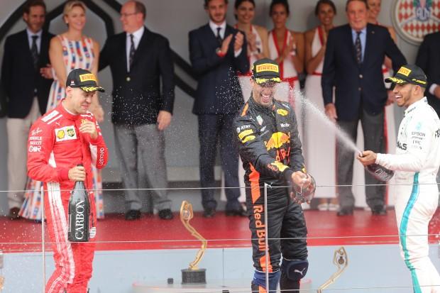 Ricciardo wins in Monaco