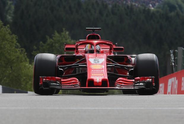 Vettel dominates in Belgium