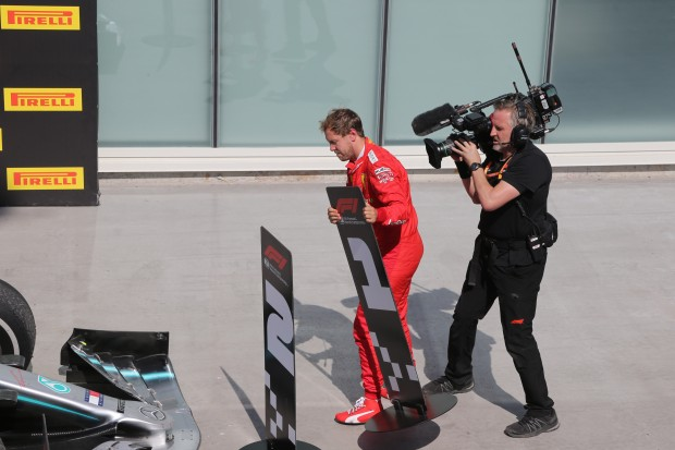 Montreal: Vettel crosses line as first but is only second on the podium....