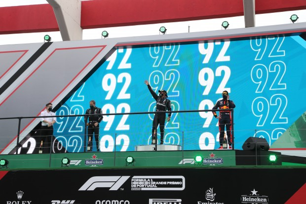 92nd F1 victory for Lewis in Portugal!
