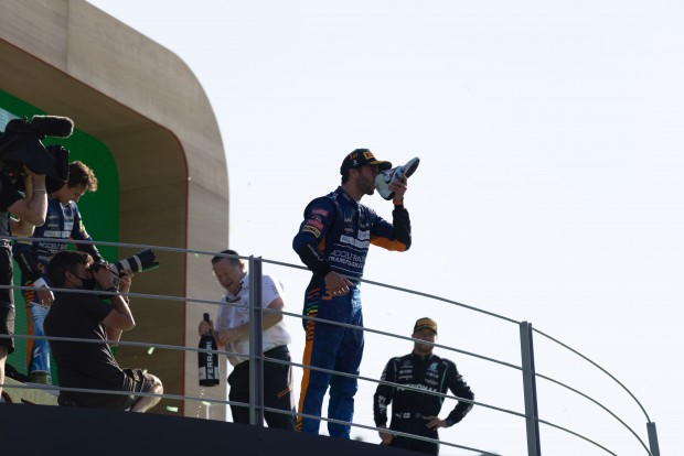 McLaren double victory with Ricciardo and Norris in Monza